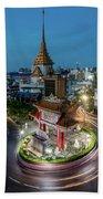 Bangkok Traffic Circle Beach Sheet