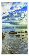Bansai Rock, Lake Tahoe, Nevada, Panorama Beach Towel