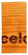 Barcelona Text Beach Towel