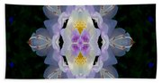 Baroque Fantasy Flowers Ornate Beach Towel