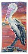 Bayou Pelican / Modern Ibis Beach Towel