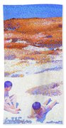 Beach At Cabasson - Digital Remastered Edition Beach Towel