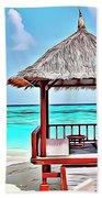 Beach Hut Beach Towel