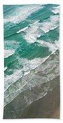 Beach Waves From Above Beach Sheet