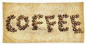 Bean Making Coffee Beach Towel