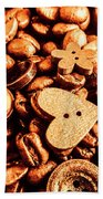 Beans And Buttons Beach Towel