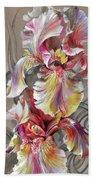 Beautiful Fantastic Realistic Flowers Beach Towel