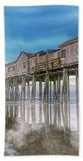 Beautiful Pier Maine Morning Beach Towel