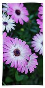 Beautiful Pink Flowers In Grass Beach Towel