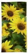 Bee And Sunflowers Beach Towel