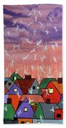 Being Caught Up In Slow Motion Thessalonians 14 16-18 Beach Towel by Anthony Falbo