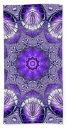 Bejeweled Easter Eggs Fractal Abstract Beach Towel by Rose Santuci-Sofranko