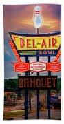 Bowler's Banquet Beach Towel by Robert FERD Frank