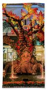 Bellagio Conservatory Enchanted Talking Tree Ultra Wide 2018 2.5 To 1 Aspect Ratio Beach Towel