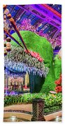 Bellagio Conservatory Spring Display Front Side View Wide 2018 2 To 1 Aspect Ratio Beach Towel