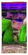Bellagio Conservatory Spring Display Ultra Wide 2 To 1 Aspect Ratio Beach Towel