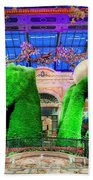 Bellagio Conservatory Spring Display Ultra Wide Trees 2018 2 To 1 Aspect Ratio Beach Towel