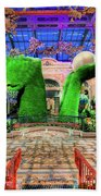 Bellagio Conservatory Spring Display Ultra Wide Trees 2018 Beach Towel