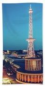 Berlin - Funkturm Beach Towel
