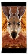 Big Boy Red Kangaroo   Beach Towel