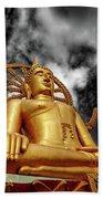 Big Buddha Thailand Beach Towel by Adrian Evans