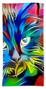Big Whiskers Cat Beach Towel by Don Northup