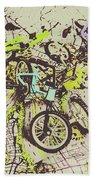 Bikes And City Routes Beach Towel