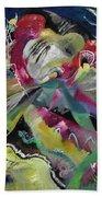Bild Mit Weissen Linien - Painting With White Lines Beach Towel