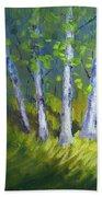 Birch Light Landscape Beach Towel