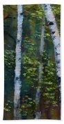 Birch Portrait II Beach Sheet