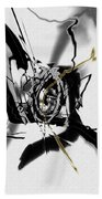 Black And White Abstract Beach Towel