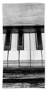 Black And White Piano Beach Towel