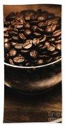 Black Coffee, No Sugar Beach Towel