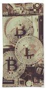 Blocks Of Bitcoin Beach Towel