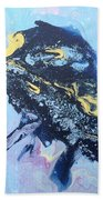 Blue Abstract #3 Beach Towel