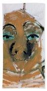 Blue Eyed Man Beach Towel