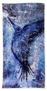 Blue Hummingbird Beach Towel