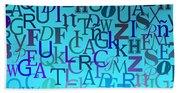 Blue Letters Over Blue Backlight Beach Sheet