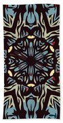 Blue Pattern Beach Towel