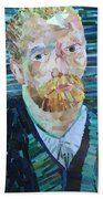 Blue Van Gogh Beach Towel