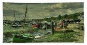 Boats At Leigh On Sea  Beach Sheet