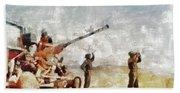 Bofors, Desert War, Wwii Beach Towel