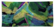 Bold Tropical Dreams- Art By Linda Woods Beach Towel