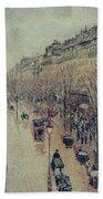 Boulevard Montmartre - Afternoon, In The Rain, 1897 Beach Towel