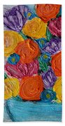 Bouquet In Blue Beach Towel