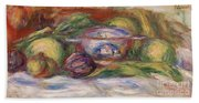 Bowl, Figs, And Apples, 1916 Beach Towel