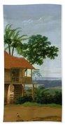 Brazilian Landscape With A Worker   S House  Beach Towel