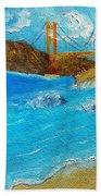 Bridge Over The Bay Beach Towel