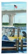 Bridge To Summer II Beach Towel
