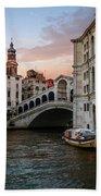 Bridges Of Venice - Rialto Beach Towel